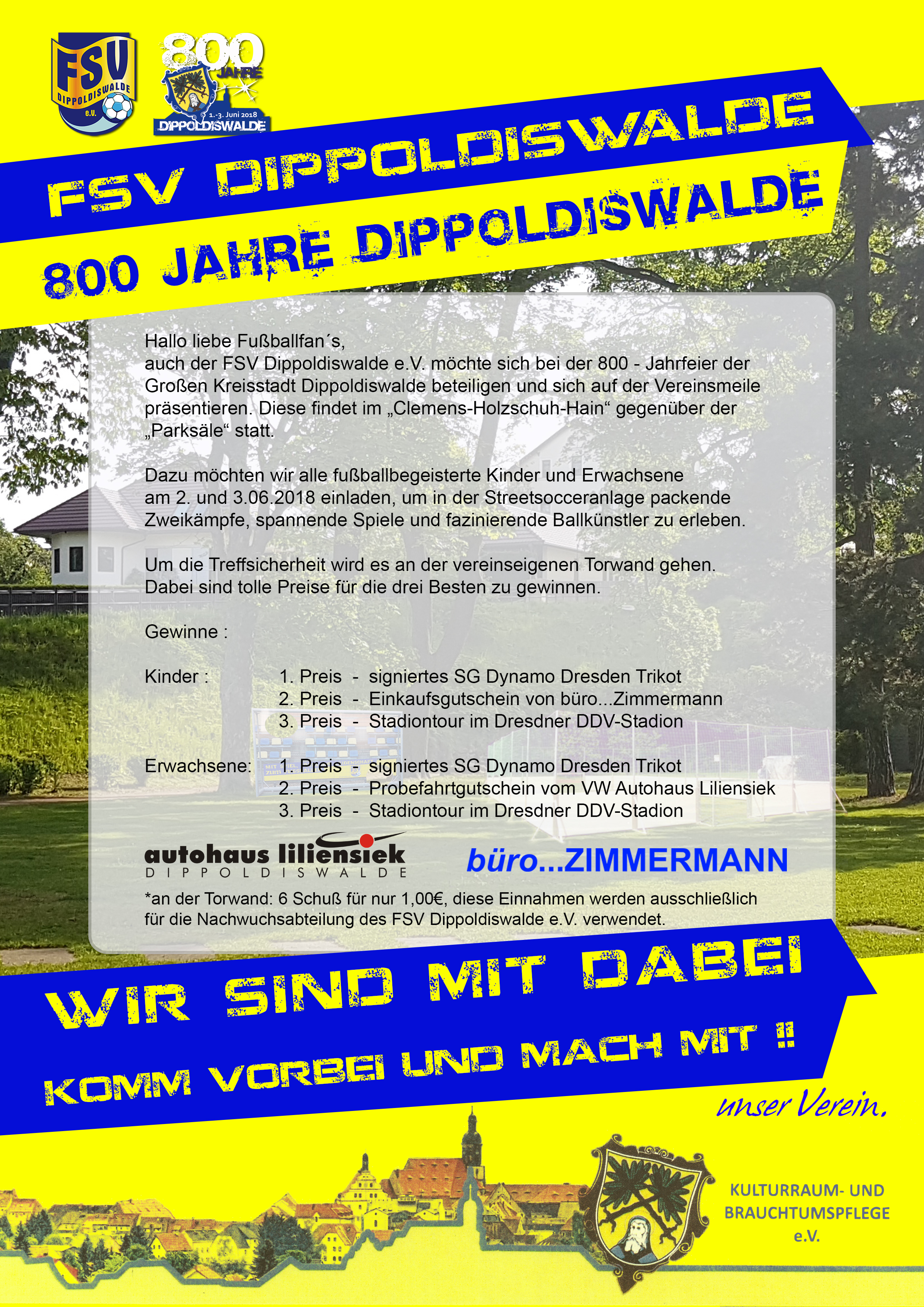 Wir Sind Mit Dabei 800 Jahre Dippoldiswalde Fsv Dippoldiswalde